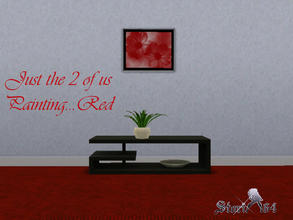 Sims 3 — JustThe2ofUsPortrait_Red by stori_64 — JustThe2ofUsPortrait_Red
