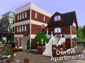 Sims 3 — Devine Apartments by estatica — This building is dedicated to Strawbz. It can be a great home for your sims or a