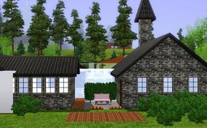 Sims 3 — Hylite by BrooksHalten — An old chapel converted into a modern home. Styles of new and old come together to