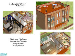 Sims 2 — 2 Appletini Street by BadDay — A lovely Georgian-style townhouse for the average household. This house boasts 3