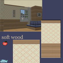 Sims 2 — evi2s  soft woodwall - 1 by evi — A set of wooden walls and floor for exterior and interior decoration