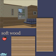 Sims 2 — evi2s  soft woodwall - 2 by evi — A set of wooden walls and floor for exterior and interior decoration
