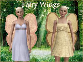 Sims 3 —  by lilliebou — Hi =) These fairy wings are for teen, young adults, adults, and for women ONLY. They fit better