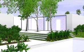 Sims 3 — RA House by BrooksHalten — Open modern home for a family, with a pool, garage, garden, andbeautiful views!