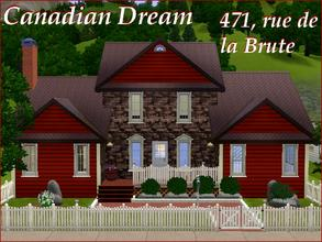 Sims 3 — [Canadian Dream] 471, rue de la Brute by lilliebou — Hi =) This house is the perfect Canadian Dream. Its style