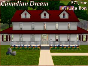 Sims 3 — [Canadian Dream] 571, rue du Bon by lilliebou — Hi =) The only custom content of this house is the room color,