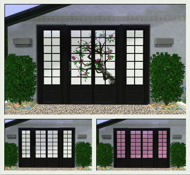Sliding Doors The Sims 4: Dgandy's Oriental Sliding Door And Matching Window
