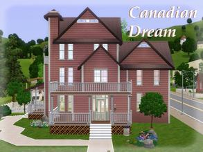 Sims 3 —  by lilliebou — Hi! This cute house has three floors. On the second floor, there is a living room, a kitchen and