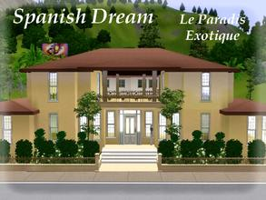 Sims 3 — Le Paradis Exotique by lilliebou — Hi =) This house has a spanish and exotic style. On the first floor, there is
