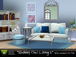 Sims 3 — Shabby Chic Living 2 by TheNumbersWoman — Some more of the Shabby Chic series coming your way! This is the