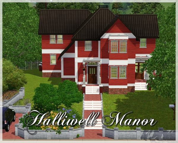 sims 3 lots - 'halliwell manor'