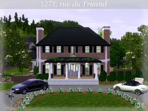 Sims 3 — Canadian Dream, 1271 rue du Truand by lilliebou — Hi =) This house is a real Canadian Dream, a house with a pool