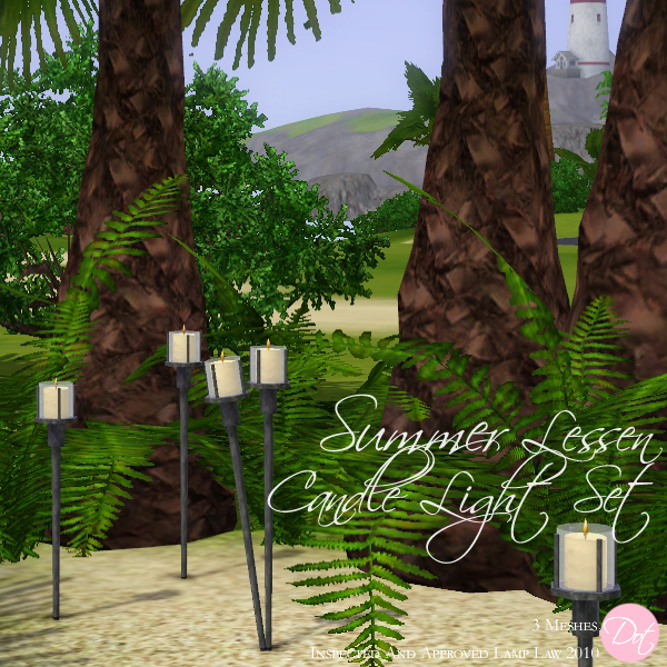 The Sims Resource Elegant Bathroom: DOT's Summer Candle Lamp Set
