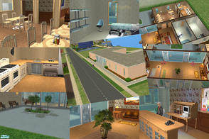 Sims 2 — Muddville Retirement Center UNfurnished by Small Town Sim — First in a series from my neighborhood