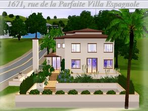 Sims 3 — [Spanish Dream] 1671, rue de la Parfaite Villa Espagnole  by lilliebou — Hi =) This house has a spanish style,