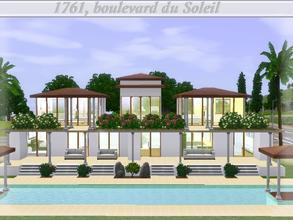 Sims 3 — 1761, boulevard du Soleil by lilliebou — Hi =) This house has a spanish and rich style. Here are its rooms: -One