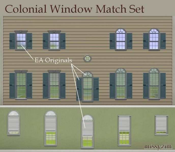 Sims 4 Cc S The Best Windows By Tingelingelater: Missyzim's Colonial Window Match Set