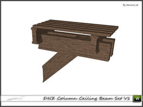 Sims 3 — DNZ Column Ceiling Beam Set V1 by denizzo_ist — 2 recolorable parts and 2 variations I wish you like it ;)