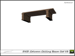 Sims 3 — DNZ Column Ceiling Beam Set V3 by denizzo_ist — 2 recolorable parts and 2 variations I wish you like it ;)