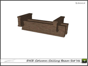 Sims 3 — DNZ Column Ceiling Beam Set V6 by denizzo_ist — 2 recolorable parts and 2 variations I wish you like it ;)