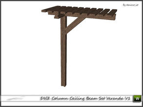 Sims 3 — DNZ Column Ceiling Beam Set Veranda V1 by denizzo_ist — 2 recolorable parts and 2 variations I wish you like it