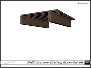 Sims 3 — DNZ Column Ceiling Beam Set V4 by denizzo_ist — 2 recolorable parts and 2 variations I wish you like it ;)