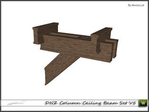 Sims 3 — DNZ Column Ceiling Beam Set V5 by denizzo_ist — 2 recolorable parts and 2 variations I wish you like it ;)