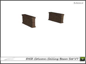 Sims 3 — DNZ Column Ceiling Beam Set V7 by denizzo_ist — 2 recolorable parts and 2 variations I wish you like it ;)