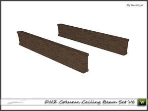 Sims 3 — DNZ Column Ceiling Beam Set V8 by denizzo_ist — 2 recolorable parts and 2 variations I wish you like it ;)