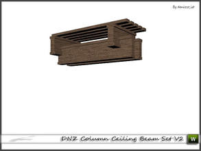 Sims 3 — DNZ Column Ceiling Beam Set V2 by denizzo_ist — 2 recolorable parts and 2 variations I wish you like it ;)