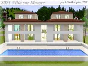 Sims 3 — 2071 Villa sur Mesure by lilliebou — Hi =) Here are the rooms of this house: First floor: -One kitchen/Dining