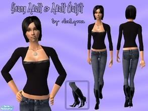 Sims 2 — Outfit 005 by daLyna — Young Adult & Adult Outfit ..:: Enjoy! ::..