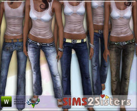 Sims 3 — S2S Jeans with belt by sims2sisters — Jeans with belt by Sims2Sisters