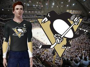 Sims 3 — Pittsburgh Penguins Jersey by lilliebou — Hi! This jersey has been requested by many simmers. For some obscur