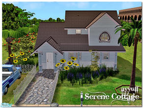 Sims 2 — Serene Cottage by ayyuff — 2x3(small lot)
