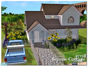 Sims 2 — Serene Cottage *Furnished Version* by ayyuff — 2x3(small lot)_fully furnished.Please see the unfurnished version