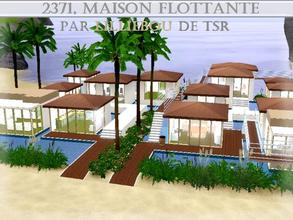 Sims 3 — 2371, Villa Flottante by lilliebou — Hi =) This is a very strange house hihi. It has 14 rooms: -Four bedrooms