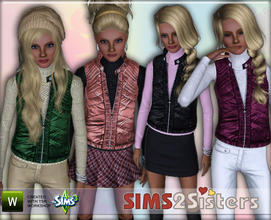 Sims 3 — S2S Puffy Guilted Vest  by sims2sisters — Puffy Guilted Vest for adult woman.
