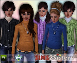 Sims 3 — S2S Pullover by sims2sisters — Pullover for teen girl by Sims2Sisters