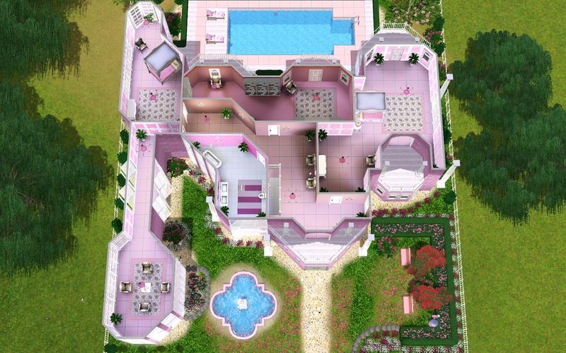 Barbie dream house floor plan House interior