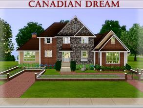Sims 3 —  by lilliebou — Hi :) This house may look big from outsite, but when I furnished it, I saw that it wasn't that
