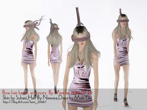 Sims 3 — Bow hair bands  accessory  By Mars lee by kerm_2046 — Bow hair bands accessory By Mars lee