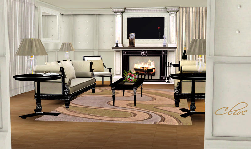 Shinokcr 39 s clive livingroom for Living room ideas sims 3