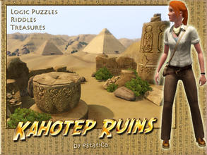 Sims 3 — Kahotep Ruins by estatica — Legend says Kahotep found the secret to eternal life. Centuries later, no one can