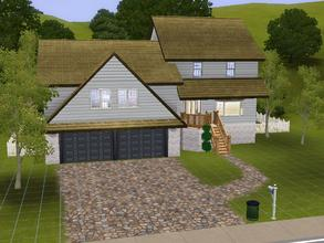 Sims 3 — Split level Home by charmedtink — This split level includes 2 bedrooms, living room, kitchen, dining room, loft,
