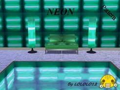 Sims 3 — Neon by LOLOLO12 — By LOLOLO12 This crazy pattern is suitable for space disco! When you add to the model light