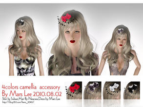 Sims 3 — 4colors camellia  accessory By Mars Lee by kerm_2046 — 4colors camellia accessory By Mars Lee