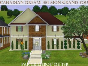 Sims 3 — 481, Mon Grand Fou, Canadian Dream by lilliebou — Hi :) Here are some details about this house: First floor: