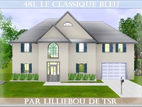 Sims 3 — 481, le Classique Bleu, Canadian Dream by lilliebou — Hi :) Here are some details about this house: First floor: