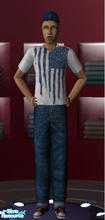 Sims 2 — Flag T-shirt by bassmaster — A flag tee with a design from American Eagle.